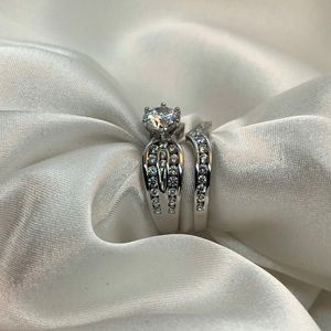 ‼️RESTOCKED‼️925 SS Elegant Engagement Set CZ Ring